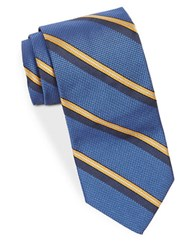 Brooks Brothers Wide Striped Tie Blue