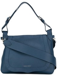 Orciani Zip Up Tote Bag Blue