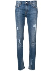 Zadig And Voltaire Distressed Skinny Jeans Blue