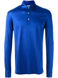 Kiton Longsleeved Polo Shirt Blue