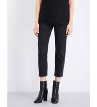 Ksubi Straight N Narrow Straight Mid Rise Jeans Black Crow