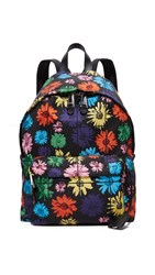 Moschino Floral Backpack Black Multi