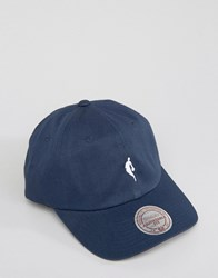 Mitchell And Ness Dad Cap With Little Dribbler Nba Logo Navy