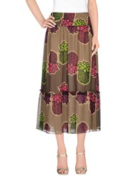 Moschino Cheap And Chic Moschino Cheapandchic Skirts 3 4 Length Skirts Women Khaki