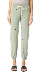 Sundry Star Patches Sweatpants Olive