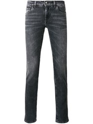 Dolce And Gabbana Straight Leg Jeans Men Cotton Spandex Elastane 46 Black