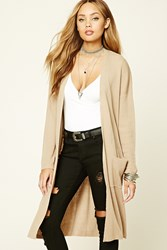 Forever 21 Ribbed Knit Open Front Cardigan