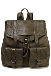 Proenza Schouler Ps1 Leather And Shell Backpack Army Green
