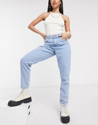 Noisy May Mom Jeans In Light Wash Blue