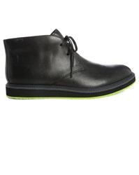Camper Black Chukka With Black And Fluoro Green Sole