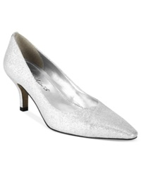 Easy Street Shoes Easy Street Chiffon Pumps Women's Shoes Silver Glitter