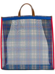 P.A.R.O.S.H. Checked Tote Blue