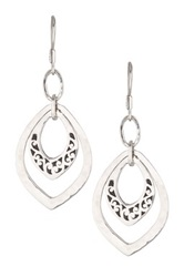 Lois Hill Sterling Silver Filigree Cutout Drop Earrings Metallic
