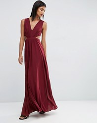 Asos Side Cut Out Maxi Dress Oxblood Red