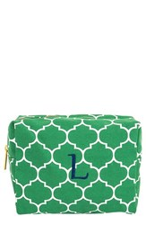Cathy's Concepts Monogram Cosmetics Case Green L
