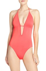 Milly Women's Acapulco One Piece Swimsuit Fluorescent Melon