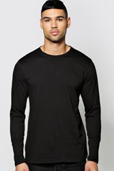 Boohoo Long Sleeve Crew Neck T Shirt Black