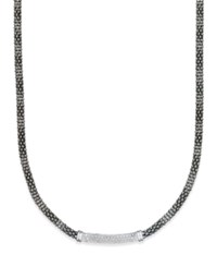 Macy's Diamond Black Bar Collar Necklace 1 3 Ct. T.W. In Sterling Silver
