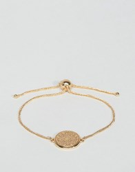 Asos Filigree Disc Chain Bracelet Gold