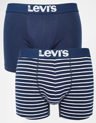 Levi's Stripe Trunks In 2 Pack Blue