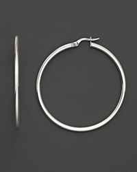 Roberto Coin 18K White Gold Hoop Earrings No Color