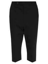 Rick Owens Astaire Cropped Low Slung Trousers Black