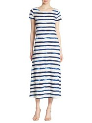 Polo Ralph Lauren Striped Cap Sleeve Maxi Dress Indigo