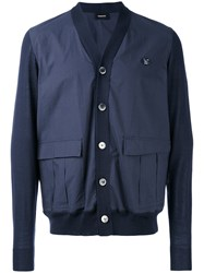 Undercover Knitted Cardigan Men Cotton Wool 2 Blue