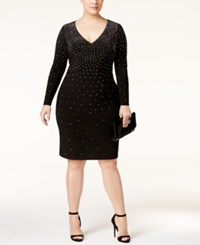 Inc International Concepts Plus Size Embellished Bodycon Dress Only At Macy's Deep Black