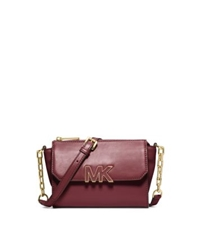 Michael Kors Florence Leather Mini Messenger Claret
