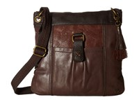 The Sak Kendra Leather Crossbody Mahogany Block Cross Body Handbags Brown