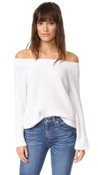 525 America Off The Shoulder Sweater White