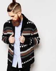 Dockers Alpha Khaki Shawl Knit Cardigan Slim Fit Horizontal Stripe Black