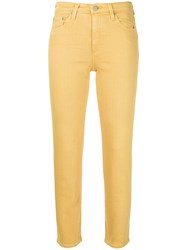 Ag Jeans Cropped Skinny Yellow And Orange