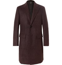 Ermenegildo Zegna Unstructured Double Faced Alpaca Blend Coat Burgundy