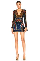 Balmain Sequin Mini In Metallics Black Blue Orange Stripes Geometric Prin Metallics Black Blue Orange Stripes Geometric Prin