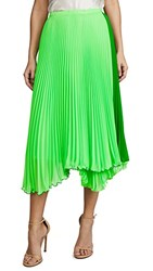 Loyd Ford Two Tone Pleated Skirt Green