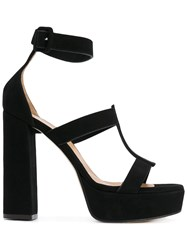 Marc Ellis Ankle Strap Platform Sandals Black