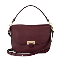 Aspinal Of London Letterbox Slouchy Saddle Bag Bordeaux