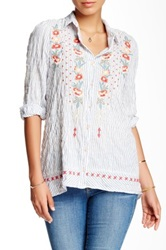 3J Workshop Embroidered Striped Blouse Multi