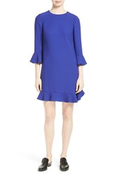 Kate Spade Women's New York Ruffle Shift Dress Nightlife Blue