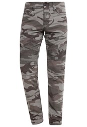 True Religion Slim Fit Jeans Ripped Camo Khaki