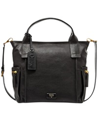 Fossil Emerson Leather Satchel Black