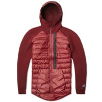 Nike Tech Fleece Aeroloft Jacket Team Red And Burgundy
