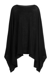 Rick Owens Cotton Cashmere Knit Cape Black