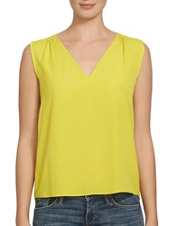 1.State Solid Sleeveless Blouse Yellow