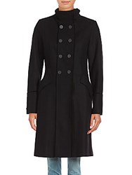 T Tahari Alice Wool Blend Coat Black
