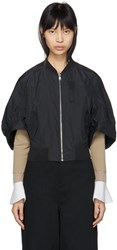 Kuho Black Lecor Bomber Jacket