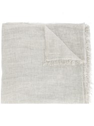Marc Cain Wide Distressed Scarf Grey