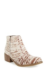 Matisse Women's 'Fury' Bootie Zebra Nubuck Leather